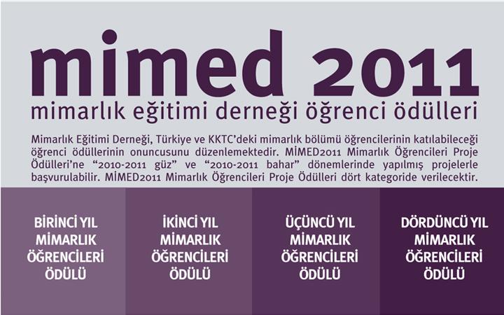 MimED2011 Mimarlık Öğrencileri Proje Ödülleri