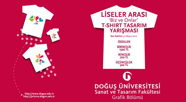 """Liseler Arası """"Biz Ve Onlar"""" T-Shirt Tasarım Yarışması"""
