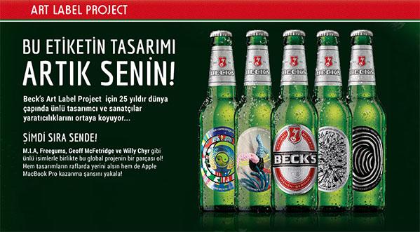 Beck's Etiket Tasarım Yarışması 2013'de Kazananlar Belli Oldu