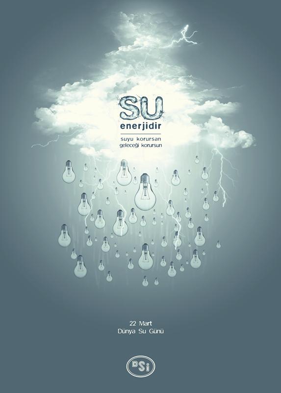 Dünya Su Günü Afiş Tasarımı Hasan Hemşindereli
