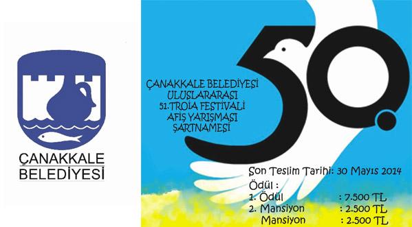 Çanakkale Belediyesi Uluslararası 51. Troia Festivali Afiş Yarışması Sonuçlandı