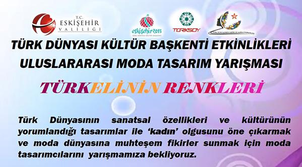 """""""Uluslararası Türkeli'nin Renkleri Moda Tasarım"""" Yarışması"""