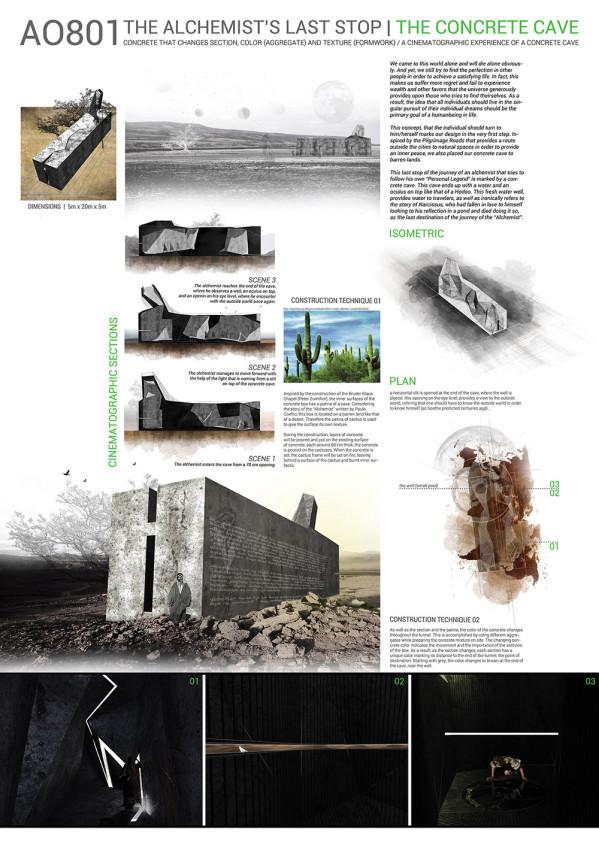Okan Karadeniz + Atıl Aggündüz 6. Beton Tasarım Yarışması Birincilik Ödülü