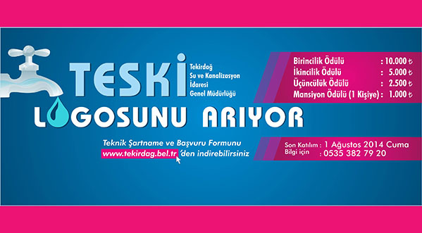Tekirdağ Su Ve Kanalizasyon İdaresi Kurumsal Logo Yarışması Sonuçlandı