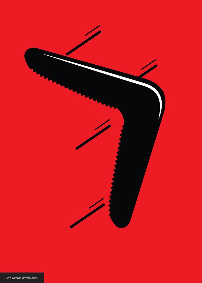 şiddet bomerang