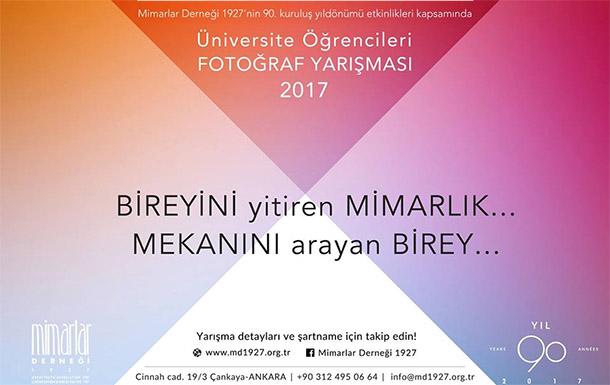 """""""Bireyini Yitiren Mimarlık, Mekanını Arayan Birey"""" Fotoğraf Yarışması 2017"""