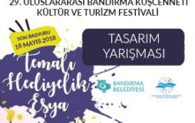 """29. Uluslararası Bandırma Kuşcenneti Kültür ve Turizm Festivali """"Temalı Hediyelik Eşya"""" Tasarım Yarışması"""