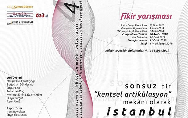 """""""Sonsuz Bir Artikülasyon Mekanı Olarak İstanbul"""" Ulusal Öğrenci Fikir Yarışması"""