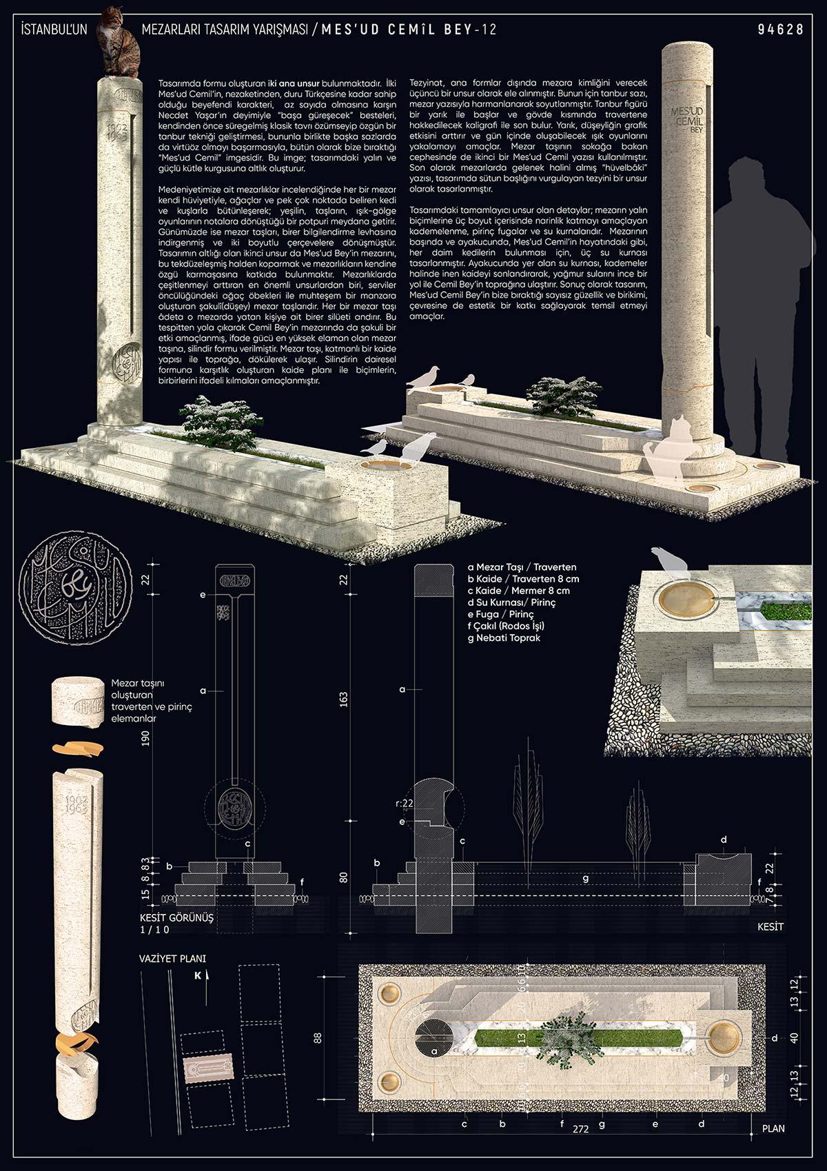 Mes'ud-Cemil Mezarı Birincilik Pafta